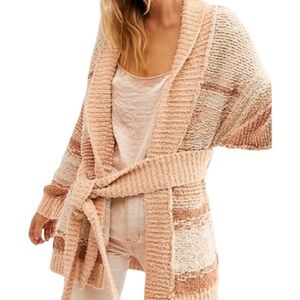 Free People Cabin Belted Cardigan Size S